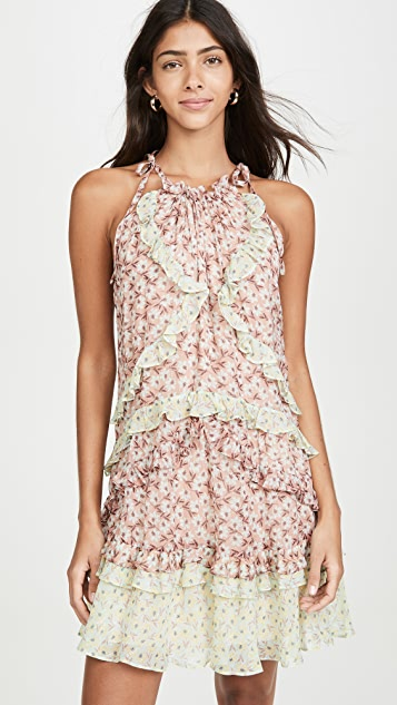 Rebecca Taylor Sleeveless Lucia Tie Dress