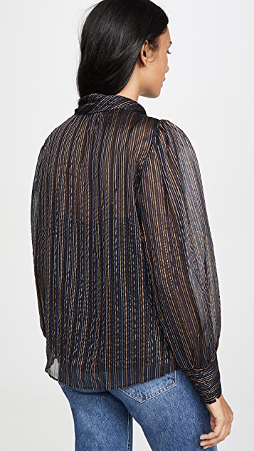 Rebecca Taylor 金属色条纹长袖上衣