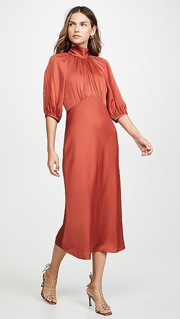 Rebecca Taylor Short Sleeve Satin Tie Dress