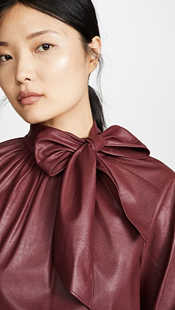 Rebecca Taylor Vegan Leather Top