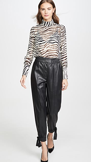 Rebecca Taylor Vegan Leather Pants