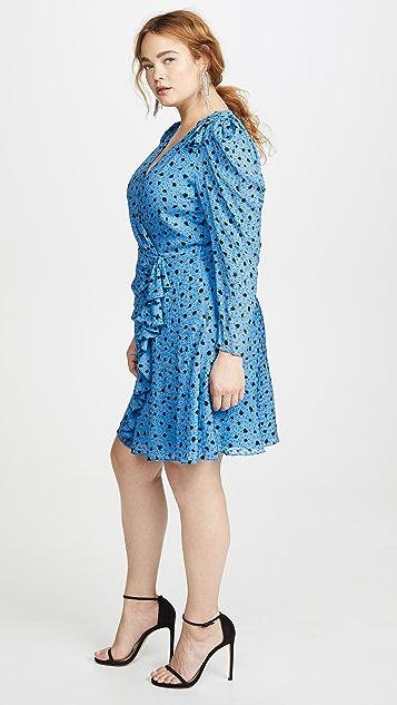 Rebecca Taylor Long Sleeve Dot Wrap Dress