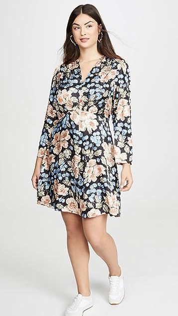 Rebecca Taylor Long Sleeve V Neck Dress