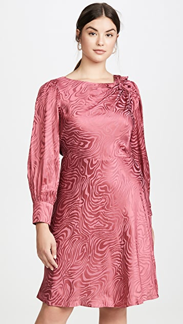 Rebecca Taylor Long Sleeve Swirl Jacquard Dress
