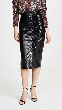 Faux Snake Skirt