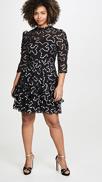 Rebecca Taylor Long Sleeve Met Nuage Dress