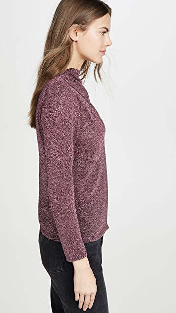 Rebecca Taylor 金属色长袖女式衬衫