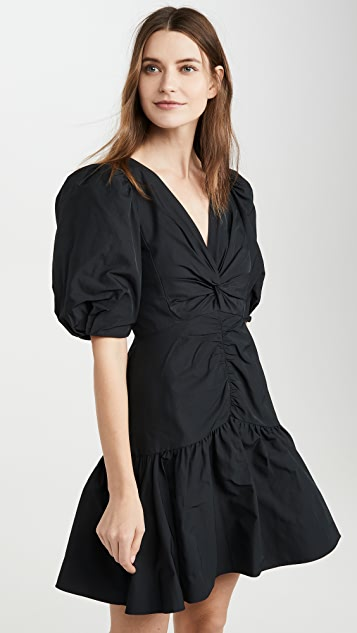 Rebecca Taylor Short Sleeve Tafetta Dress