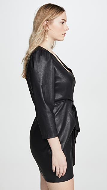Rebecca Taylor Long Sleeve Vegan Leather Dress