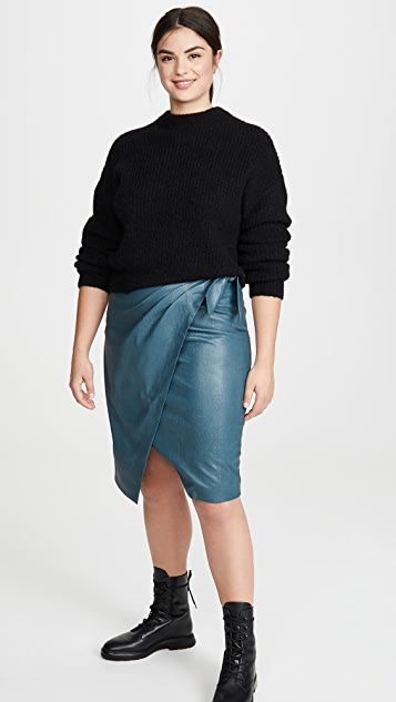 Rebecca Taylor Vegan Leather Skirt