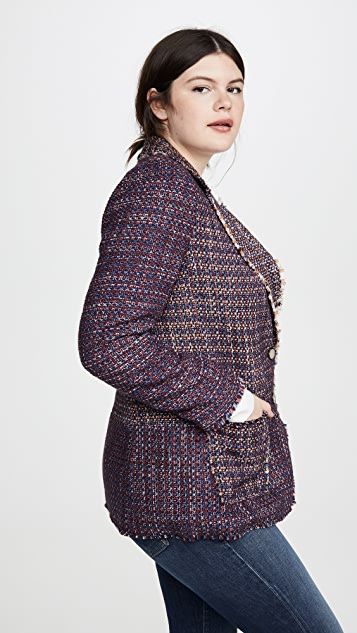 Rebecca Taylor Blanket Tweed Blazer