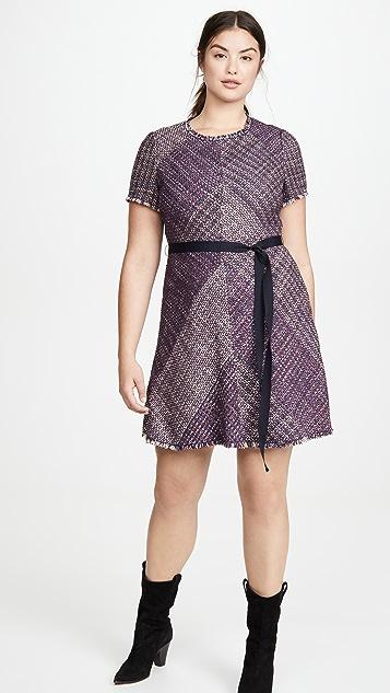 Rebecca Taylor 短袖毯式花呢连衣裙