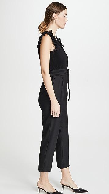 Rebecca Taylor Sleeveless Pleated Jumpsuit