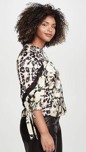 Rebecca Taylor 长袖金色叶子图案上衣
