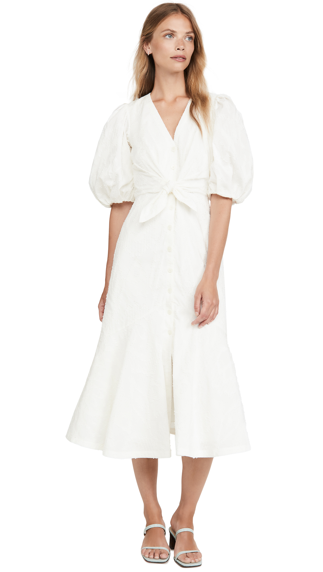 Rebecca Taylor Short Sleeve Textured Ikat Dress