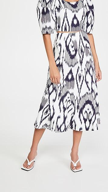 Rebecca Taylor 扎染亚麻半身裙