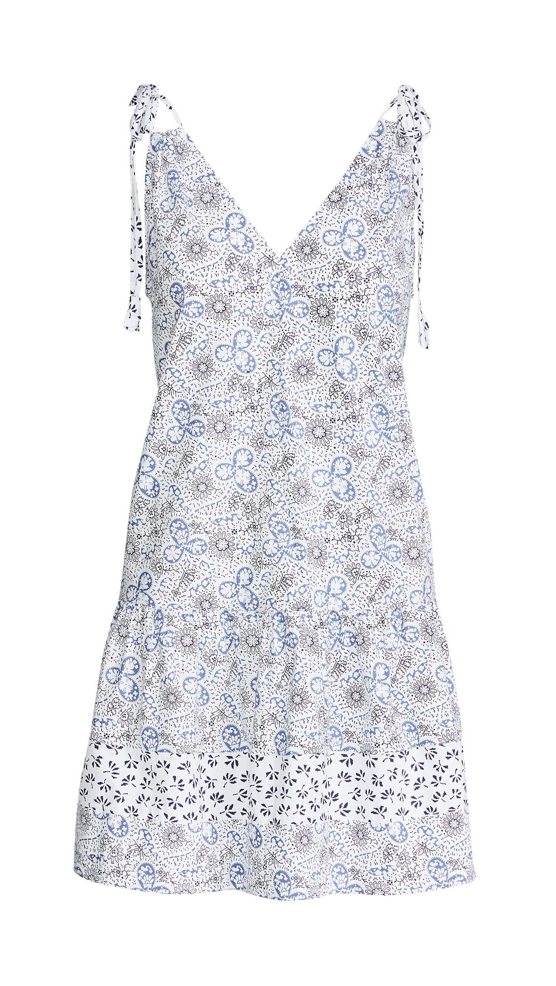 Rebecca Taylor Sleeveless Cactus Floral Dress