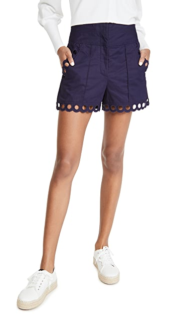 Rebecca Taylor Ariana Embroidered Shorts