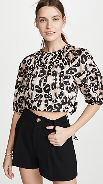 Rebecca Taylor Long Sleeve Kaleidoscope Top