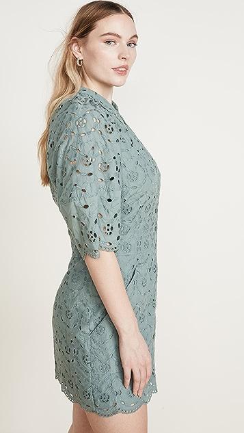 Rebecca Taylor Short Sleeve Mina Eyelet Dress