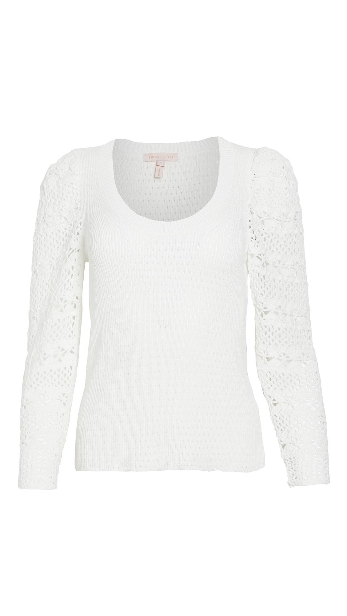 Rebecca Taylor Crimp Cotton Pullover