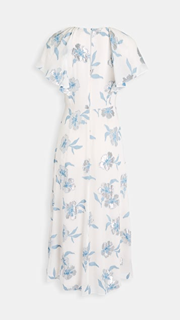 Rebecca Taylor Short Sleeve Metallic Fleur Dress