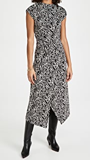 Rebecca Taylor Sleeveless Zebra Lily Dress
