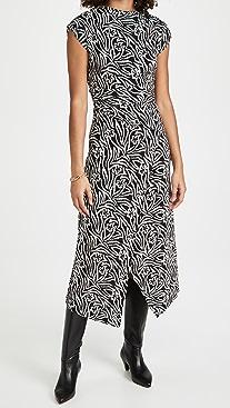 Rebecca Taylor Sleeveless Zebra Lily Dress