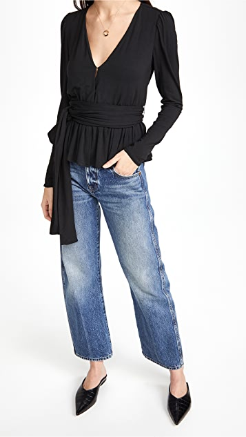 Rebecca Taylor V 领平纹针织面料上衣