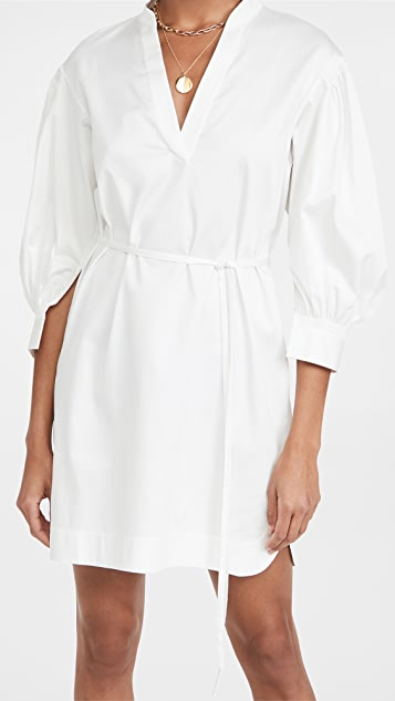 Rebecca Taylor 3/4 Sleeve Belted Dress