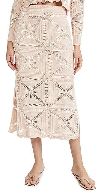 Rebecca Taylor Pencil Midi Skirt