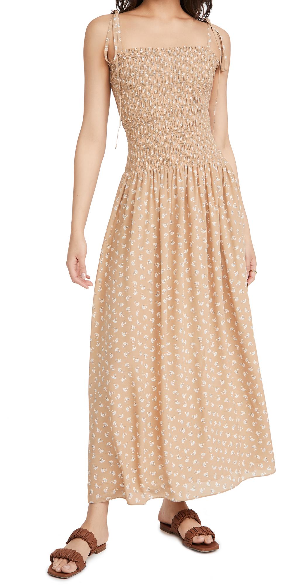 Rebecca Taylor Silks SLEEVELESS RUCHED EMMY DRESS