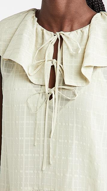 Rebecca Taylor 无袖格纹连衣裙