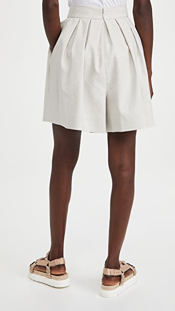 Rebecca Taylor Linen Suiting Shorts