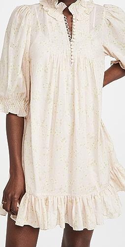 Rebecca Taylor - Short Sleeve Adela Ruffle Dress