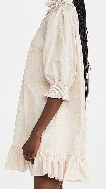 Rebecca Taylor Short Sleeve Adela Ruffle Dress