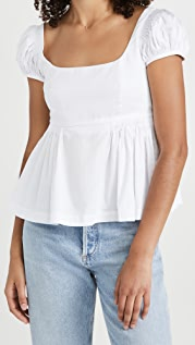 Rebecca Taylor Puff Sleeve Empire Top