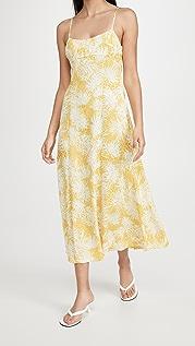 Rebecca Taylor Palmetto Fleur Ruched Long Dress