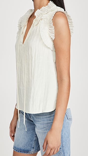 Rebecca Taylor Pleated Top