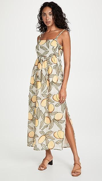 Rebecca Taylor Long Puff Waist Dress