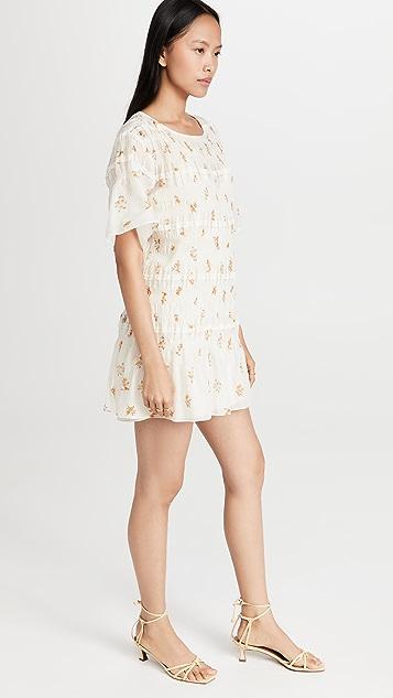 Rebecca Taylor Ines Smocked Dress