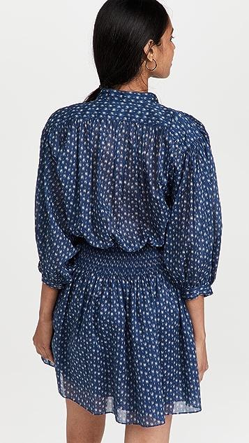 Rebecca Taylor Long Sleeve Ikat Shirtdress