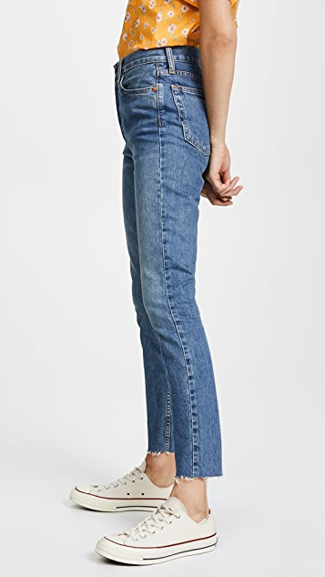 7c789fe523d5 ... RE DONE High Rise Ankle Crop Jeans ...