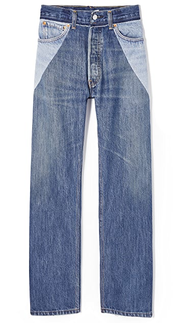 RE/DONE Ultra High Rise Straight Leg Jeans