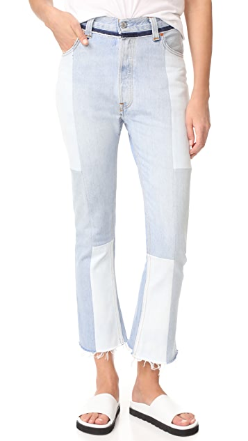 RE/DONE Seamed High Rise Flare Jeans