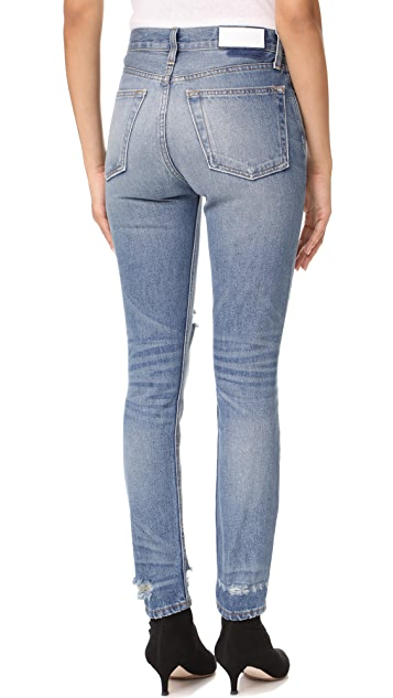RE/DONE High Rise Rigid Skinny Jeans