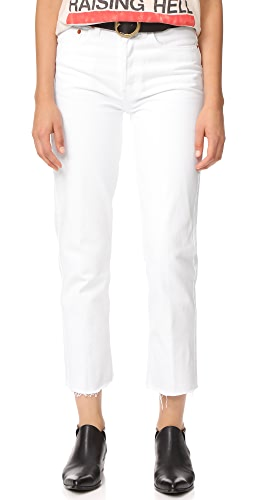 RE/DONE - High Rise Rigid Stovepipe Jeans