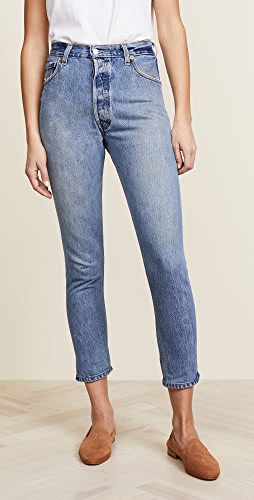 RE/DONE - x Levi's High Rise Ankle Crop Jeans