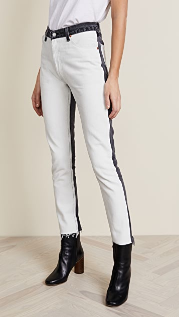 RE/DONE Black & White High Rise Jeans