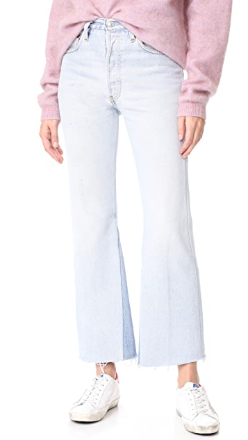 ae1af7681b3a5 RE DONE x Levi s High Rise Crop Flare Jeans